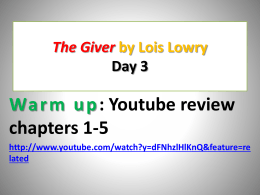 The Giver PPT lesson 3