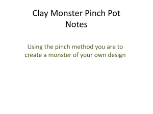 Clay Monster Pinch Pot