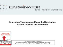 And What is an Innovation Tournament?