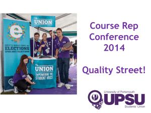 Quality Street - University of Portsmouth Students` Union