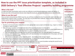 Tool - Issue Prioritisation Matrix