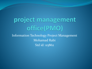 project management office(PMO)
