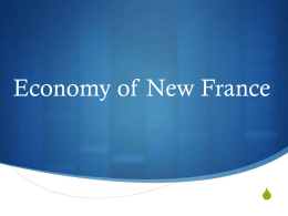 Lesson 4-Economy of New France