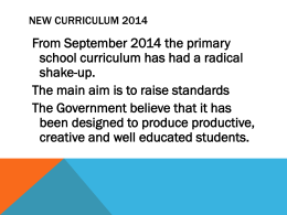 Literacy New Curriculum 2014 powerpoint