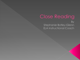 Close Reading ppt 1