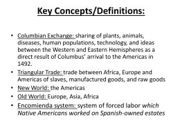 positive and negative effects of the columbian exchange