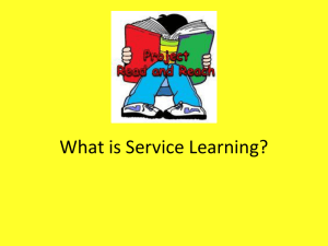 What is Service Learning? 2013
