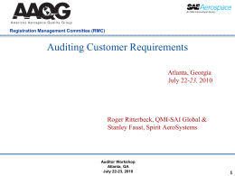 Auditing Customer Requirements
