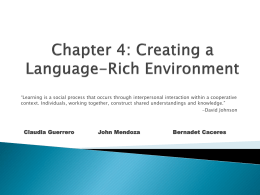Chapter 4-Connecting Content & Language