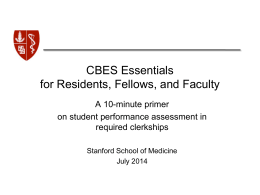 Criterion-Based Evaluation Initiative (CBEI