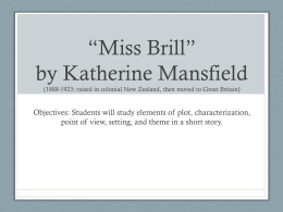 *Miss Brill* by Katherine Mansfield