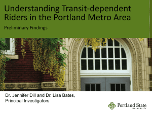 Transit Dependent Transportation Disadvantaged