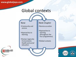 global contexts Presentation