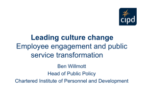 Leading the Culture Change