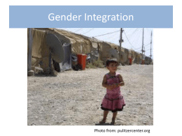 Gender Integration continuum ppt