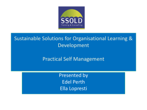 Practical Self Management Workshop