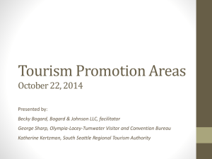 Tourism Promotion Areas - Panel