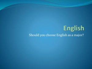Why Major in English
