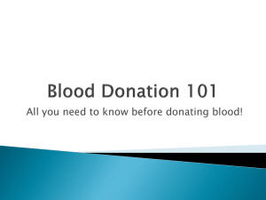 Blood Donation 101