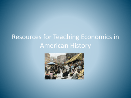 EEAH Resources for Teaching Economics in US History