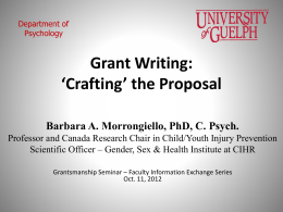 fie_oct_2012_grant_writing_the_proposal