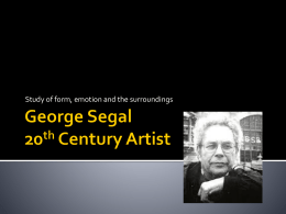 George Segal PPT 2