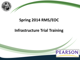 Infrastructure Trial Training PowerPoint