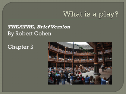 What is a play? - Emporia State University