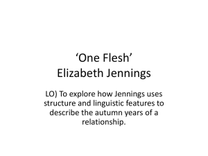 One Flesh Elizabeth Jennings