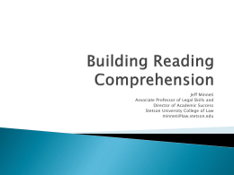 Building Reading Comprehension