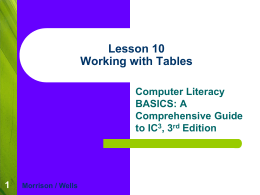 PowerPoint Lesson 10 - ICT-IAT