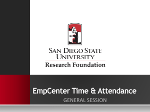 EmpCenter General Session - SDSU Research Foundation