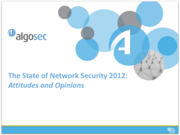 Network Security & Firewall Management Survey 2011
