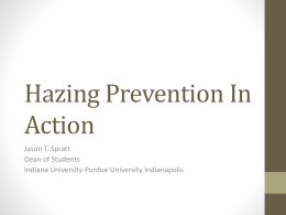 Hazing Prevention In Action - Alpha Phi Omega