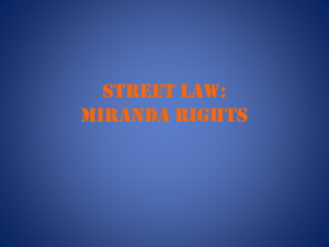 Miranda Rights ppt