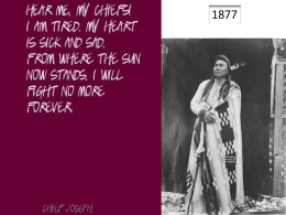 Chief Joseph speech