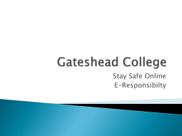 Gateshead College - RSC London Moodle
