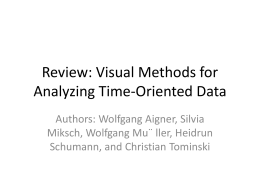 Visual Methods for Analyzing Time