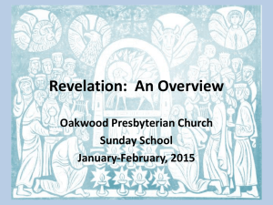 Revelation (Part 1 - PowerPoint)
