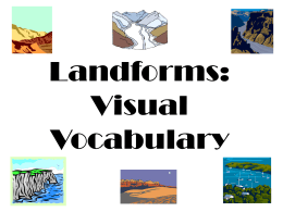 Landforms: Visual Vocabulary