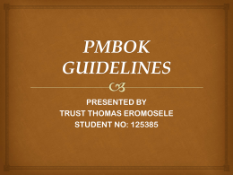PMI PMBOK GUIDELINES