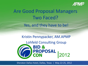 Are Good Proposal Managers Two Faced_APMP Dallas