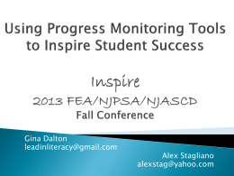 Using Progress Monitoring Tools to Inspire Student Success