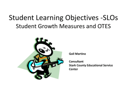 Developing SLOs in Arts Education