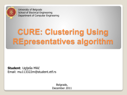 CURE: An Efficient Clustering Algorithm for