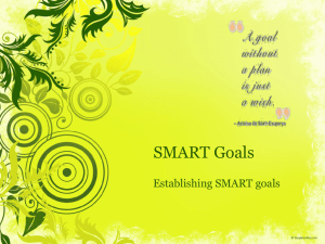 SLP SMART Goal Training