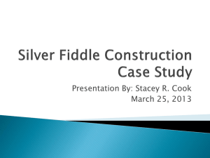 Silver Fiddle Case Study - Stacey R. Cook MBA Portfolio