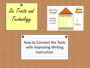 Six Traits and Technology