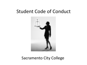 Student Code of Conduct - Sacramento City College