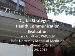slides - Home | Tufts University School of Medicine Public Health